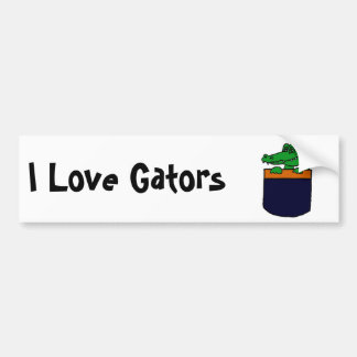XX- Funny Alligator in a Pocket Bumper Stickers