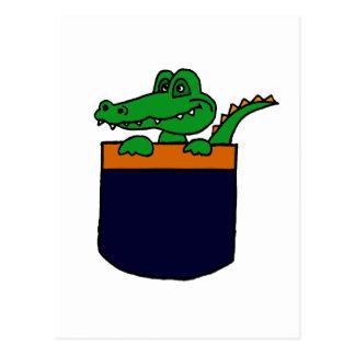 XX- Funny Alligator in a Pocket Postcards