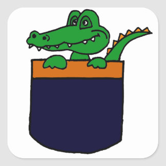 XX- Funny Alligator in a Pocket Square Stickers