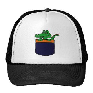 XX- Funny Alligator in a Pocket Trucker Hat