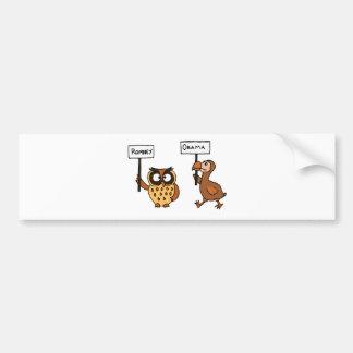 XX- Funny Anti Obama Owl and Dodod Bird Car Bumper Sticker