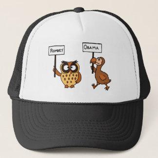 XX- Funny Anti Obama Owl and Dodod Bird Trucker Hat