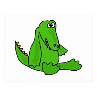 XX- Funny Baby Alligator Cartoon Postcard
