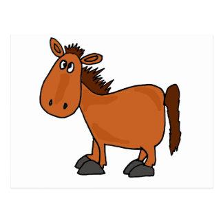 XX- Funny Bay Horse Cartoon Postcard