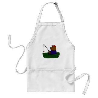 XX- Funny Bear Fishing Design Adult Apron