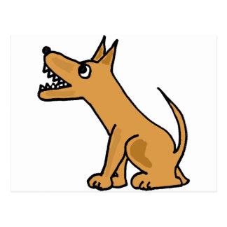 XX- Funny Biting Dog Cartoon Postcard
