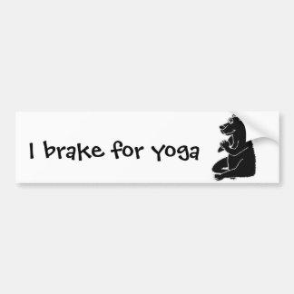 XX- Funny Black Bear doing Yoga Bumper Sticker