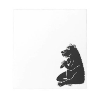 XX- Funny Black Bear doing Yoga Memo Pads