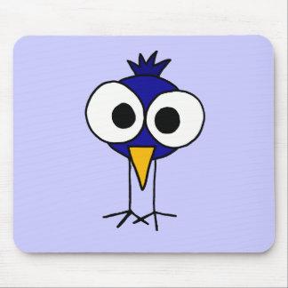 XX- Funny Bluebird Art Cartoon Mouse Pad