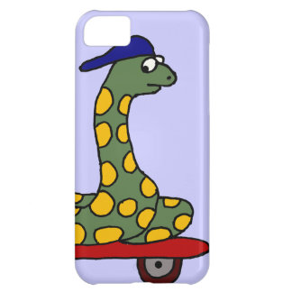 XX- Funny Boa Constrictor on a Skateboard iPhone 5C Case