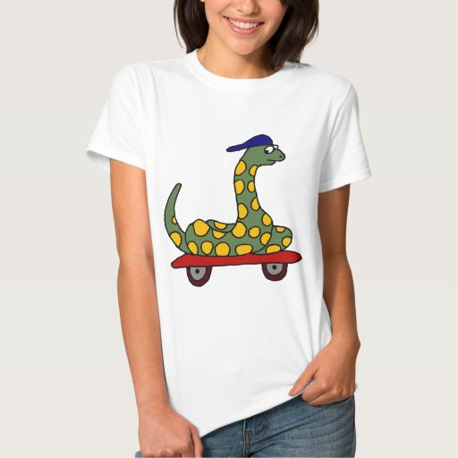 XX- Funny Boa Constrictor on a Skateboard T Shirt