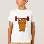 XX- Funny Brown Bear Weight Lifting T-Shirt