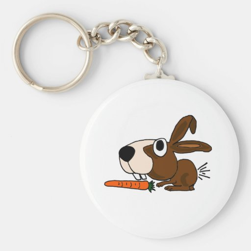 XX- Funny Bunny Rabbit and Carrot Key Chains