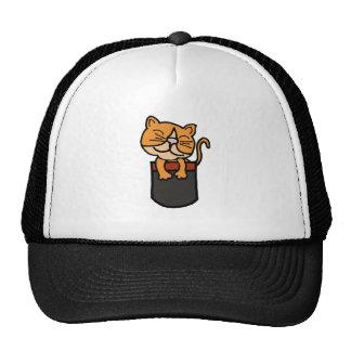 XX- Funny Cat in a Pocket Trucker Hat