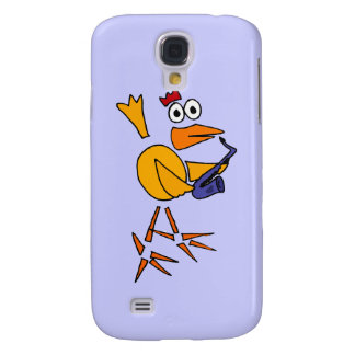 XX- Funny Chicken Playing Saxo Abstract Art Samsung S4 Case