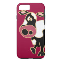 XX- Funny Cow Cartoon iPhone 8/7 Case