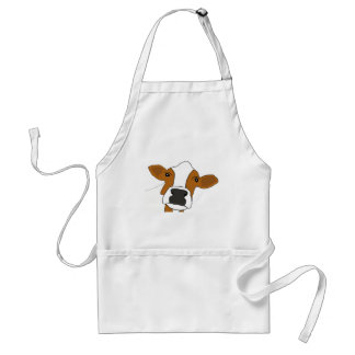 XX- Funny Cow Face Adult Apron
