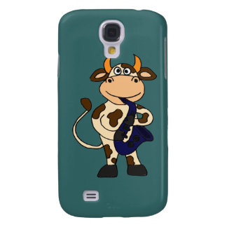 XX- Funny Cow Playing Saxo Cartoon Galaxy S4 Cover