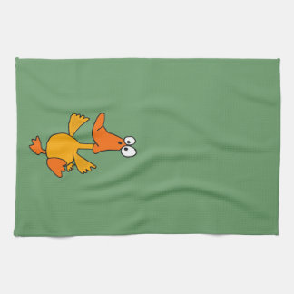 XX- Funny Dancing Duck Cartoon Towel