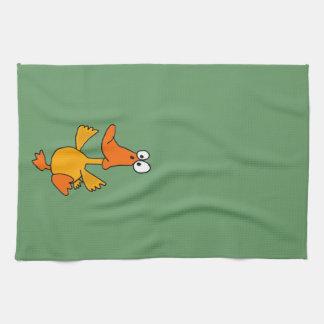 XX- Funny Dancing Duck Cartoon Towels