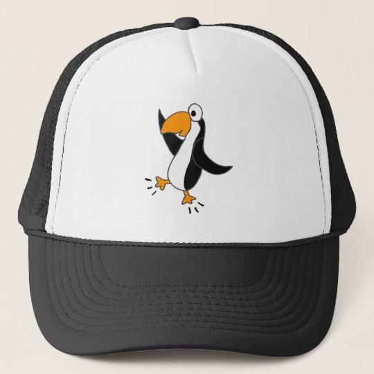 XX- Funny Dancing Penguin Cartoon Trucker Hat