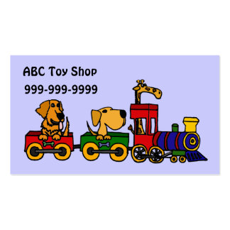 XX- Funny Dogs on a Train Business Card