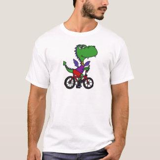 XX- Funny Dragon Riding Bicycle T-Shirt