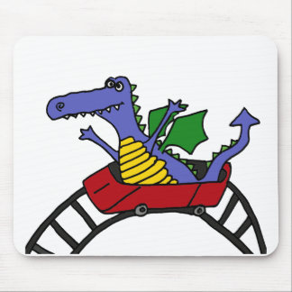 XX- Funny Draon on a Roller Coaster Mouse Pad
