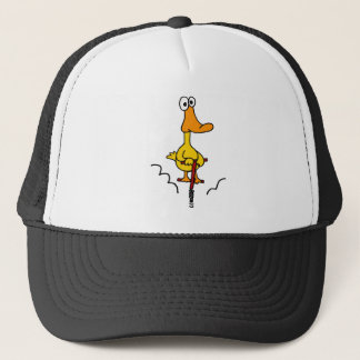 XX- Funny Duck on a Pogo Stick Trucker Hat