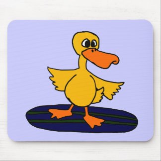 XX- Funny Duck on a Surfboard Mouse Pad