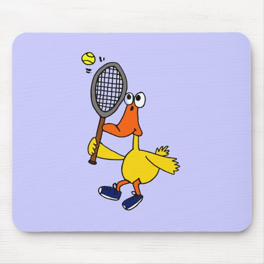 XX- Funny Duck Playing Tennis Mouse Pad