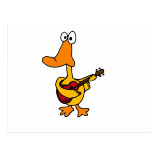 XX- Funny Duck Playing the Electric Guitar Postcard