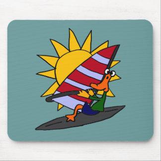 XX- Funny Duck Windsurfing Cartoon Mousepad