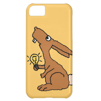 XX- Funny Dumb Bunny Rabbit Holding Light bulb Cover For iPhone 5C