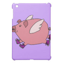 XX- Funny Flying Pig with Sneakers Case For The iPad Mini