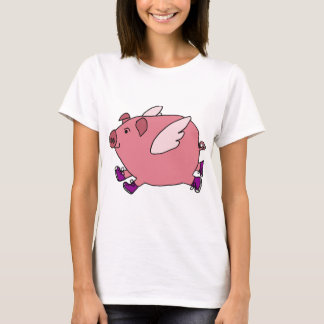 XX- Funny Flying Pig with Sneakers T-Shirt