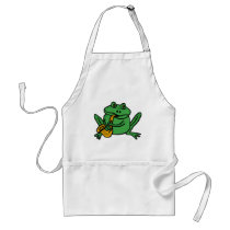 XX- Funny Frog Playing Saxophone Adult Apron