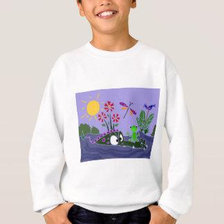 XX- Funny Frog Sitting on a Gator Cartoon Sweatshirt