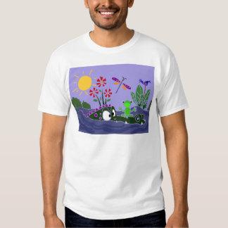 XX- Funny Frog Sitting on a Gator Cartoon T-shirt