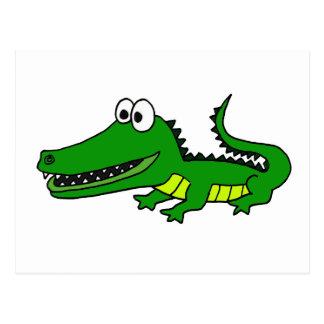 XX- Funny Funky Gator Postcard