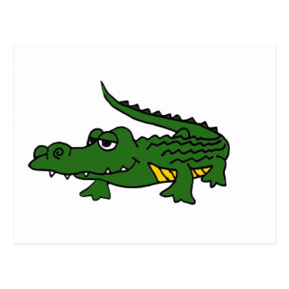XX- Funny Gator Cartoon Postcard