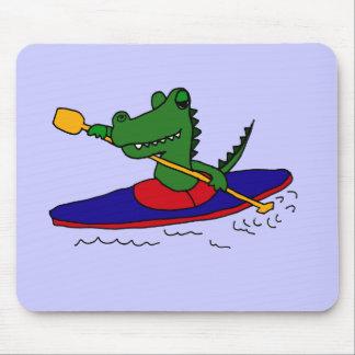 XX- Funny Gator Kayaking Mousepad