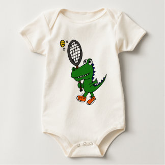 XX- Funny Gator Playing Tennis Bodysuit