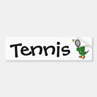 XX- Funny Gator Playing Tennis Car Bumper Sticker