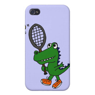 XX- Funny Gator Playing Tennis Cases For iPhone 4