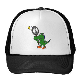 XX- Funny Gator Playing Tennis Hat