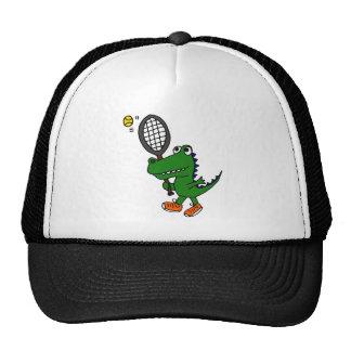 XX- Funny Gator Playing Tennis Trucker Hat