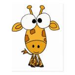 XX- Funny Giraffe Cartoon Post Card