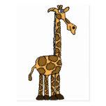 XX- Funny Giraffe Cartoon Post Cards