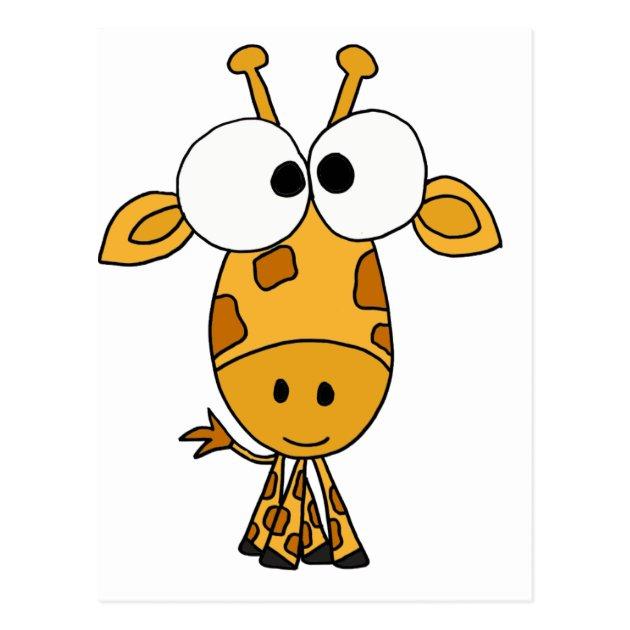 Funny Giraffe Cartoon Postcard Zazzle